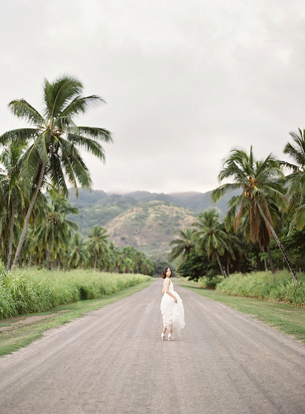 Tropical Fine Art Bridal Inspiration | Hawaii Wedding Ideas with Old World Charm from Christine Clark Photography