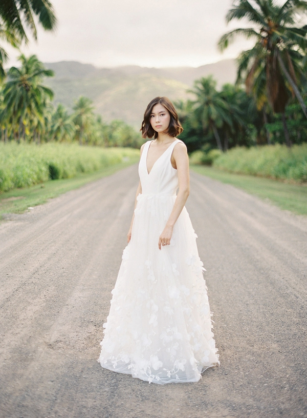 Alexandra Grecco Wedding Dress | Hawaii Wedding Ideas with Old World Charm from Christine Clark Photography