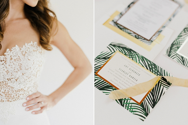 Tropical Wedding Invitations | Refined Rustic Destination Wedding in Nicaragua by Merari Photography