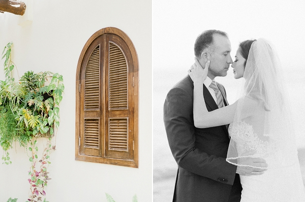 Bride and Groom Black and White Portrait | Refined Rustic Destination Wedding in Nicaragua by Merari Photography