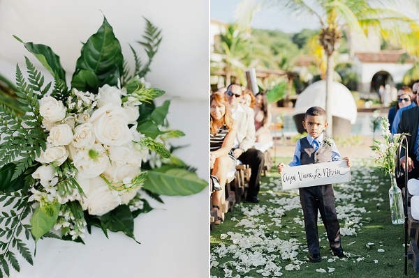 Ring Bearer Ceremony Signage in Spanish | Refined Rustic Destination Wedding in Nicaragua by Merari Photography