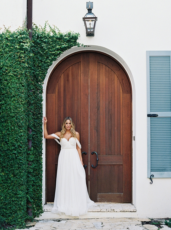 Sarah Seven Off the Shoulder Wedding Dress | Romantic Vow Renewal Wedding Inspiration in Florida from Simply Sarah Photography