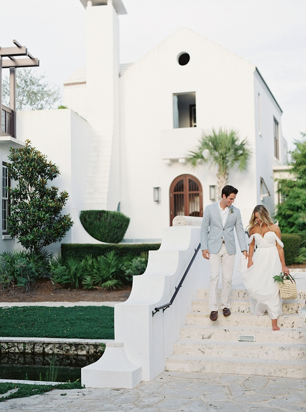 Florida Bride and Groom | Romantic Vow Renewal Wedding Inspiration in Florida from Simply Sarah Photography
