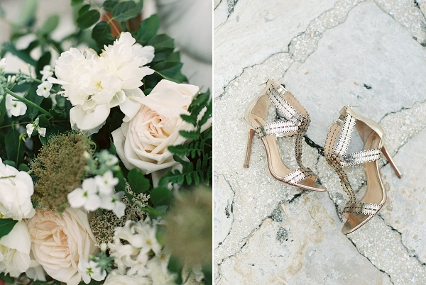 Chic Wedding Shoes | Romantic Vow Renewal Wedding Inspiration in Florida from Simply Sarah Photography