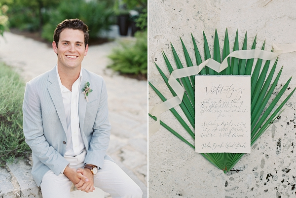 Calligraphy Invitations | Romantic Vow Renewal Wedding Inspiration in Florida from Simply Sarah Photography