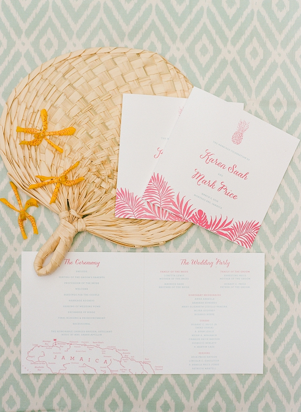 Tropical Wedding Programs | An Elegant Tropical Wedding In Jamaica By Fine Art Photographer Sylvie Gil Photography
