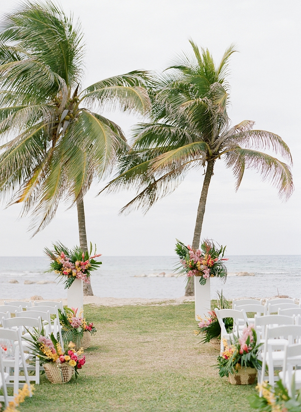 Tropical Wedding Ceremony Ideas | An Elegant Tropical Wedding In Jamaica By Fine Art Photographer Sylvie Gil Photography