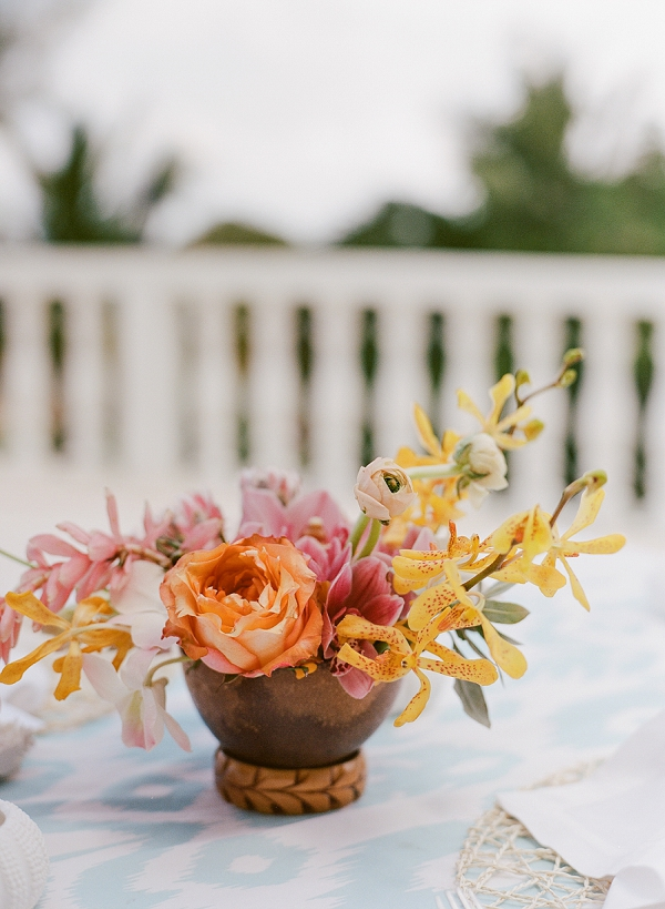 Tropical Wedding Florals | An Elegant Tropical Wedding In Jamaica By Fine Art Photographer Sylvie Gil Photography