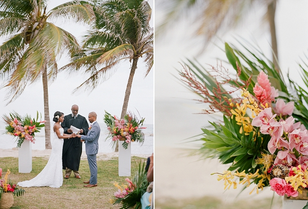 Tropical Garden Wedding Ceremony | An Elegant Tropical Wedding In Jamaica By Fine Art Photographer Sylvie Gil Photography