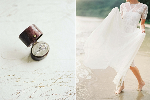 Trumpet and Horn Ring | Ethereal Sunrise Bridal Portraits in Hawaii by Christine Clark Photography