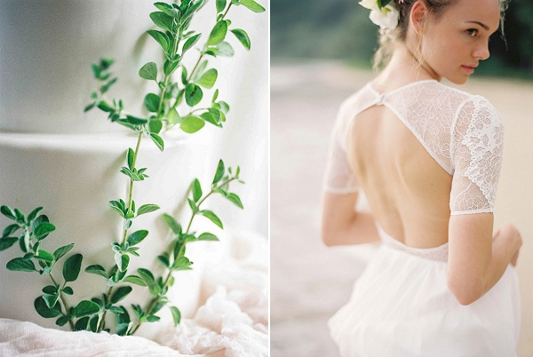 Lace Wedding Gown | Ethereal Sunrise Bridal Portraits in Hawaii by Christine Clark Photography