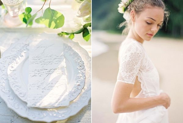 Tropical Bride | Ethereal Sunrise Bridal Portraits in Hawaii by Christine Clark Photography