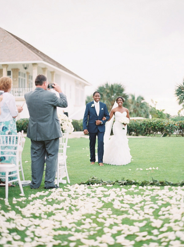 Father Walking Bride down the Aisle | Glamorous Punta Cana Wedding By Melissa Jill Photography