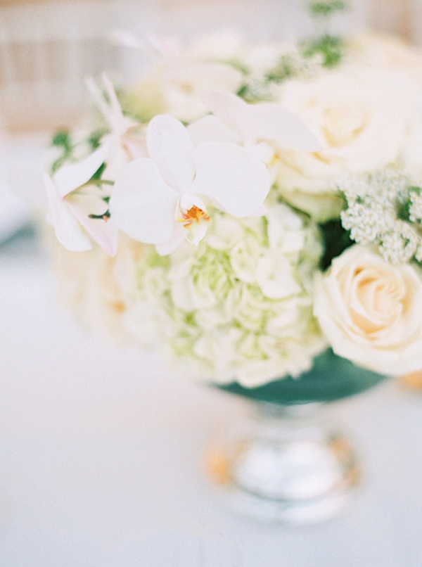 White Floral Centerpiece | Glamorous Punta Cana Wedding By Melissa Jill Photography