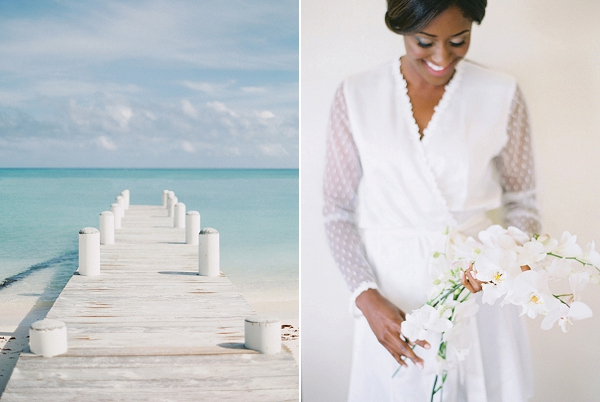 Bride with Orchids | Glamorous Punta Cana Wedding By Melissa Jill Photography
