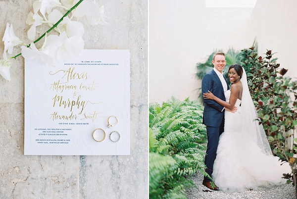 Calligraphy in Gold | Glamorous Punta Cana Wedding By Melissa Jill Photography