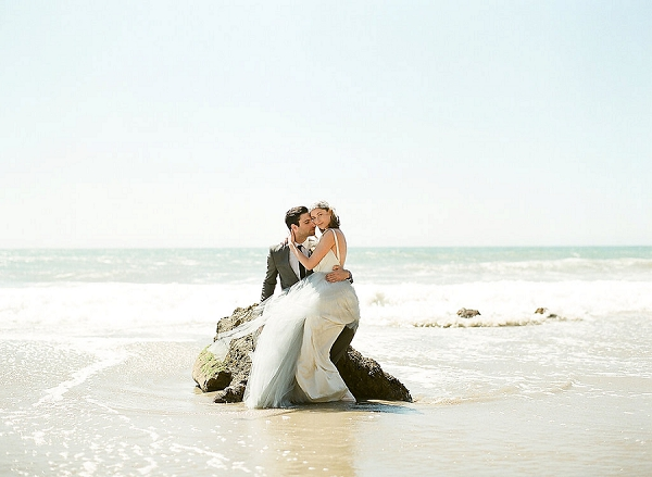 Bride and Groom Coastal Ideas | Out Of Water Malibu Inspiration by Bonphotage Photography