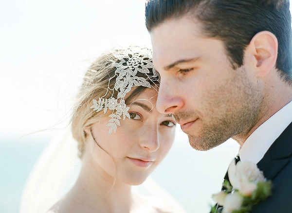 Bride with Intricate Headpiece | Out Of Water Malibu Inspiration by Bonphotage Photography