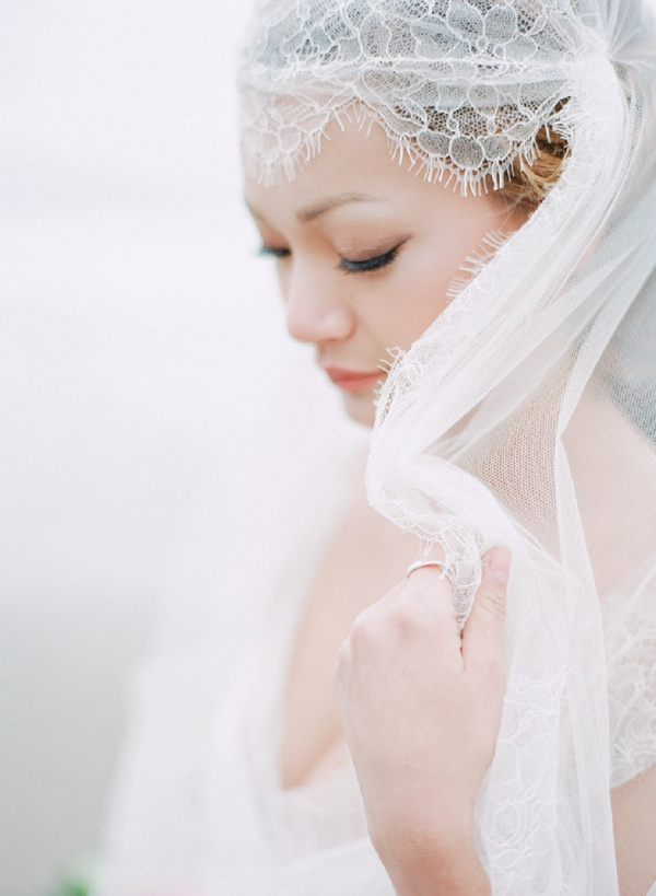 Bride | Serene Seaside Bride and Groom Portraits By Meg Fish Photography