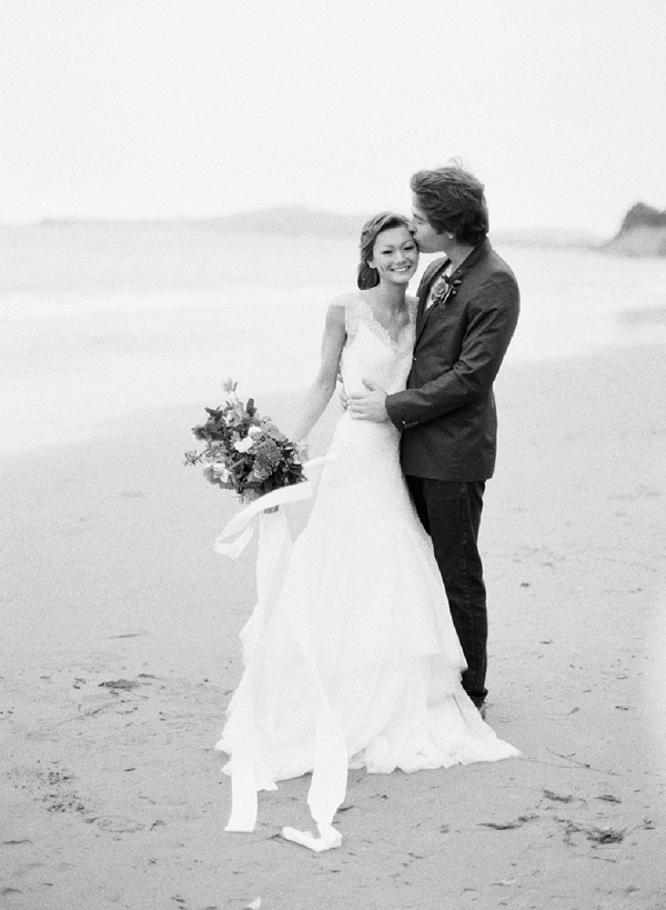 Bride and Groom | Serene Seaside Bride and Groom Portraits By Meg Fish Photography