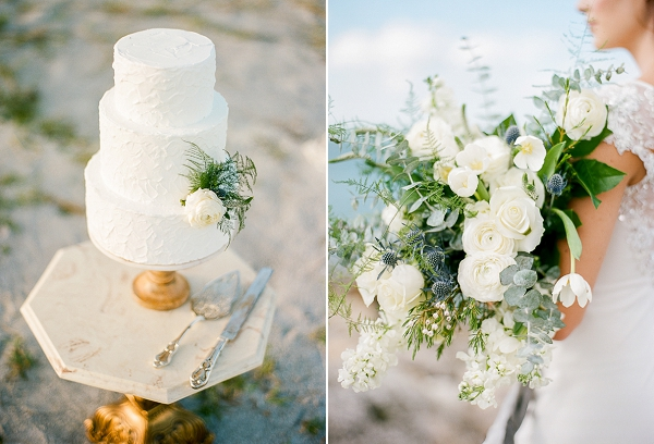 Beach Wedding Cake | Romantic Beach Wedding Inspiration by The Ganeys