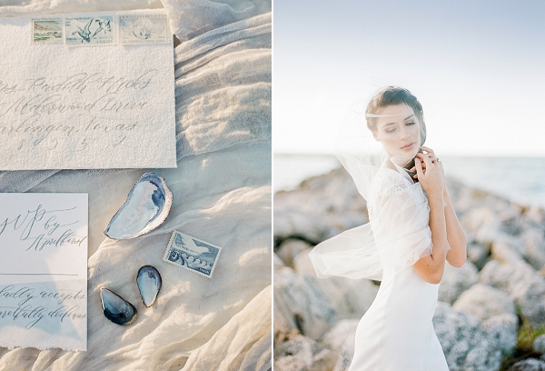 Elegant Beach Bride | Romantic Beach Wedding Inspiration by The Ganeys