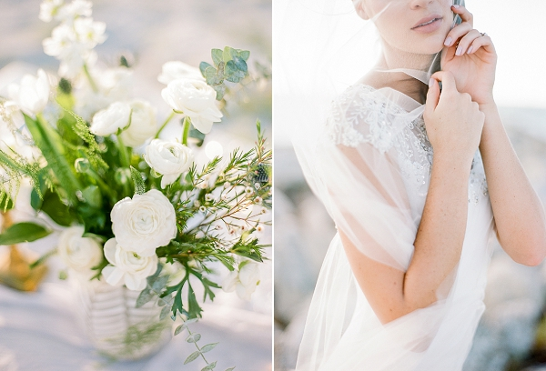 Bridal Portrait | Romantic Beach Wedding Inspiration by The Ganeys