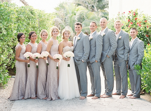 Bride and Groom with Bridal Party in Mexico | Riviera Maya Mexico Beach Wedding By Kayla Barker Fine Art Photography