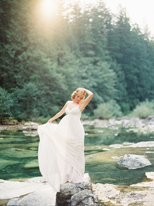 Forest Bridal Portrait   Organic Outdoor Bridal Inspiration by Anne Brookshire Photography