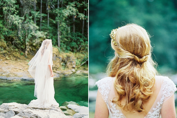 Loose Bridal Hairstyle   Organic Outdoor Bridal Inspiration by Anne Brookshire Photography