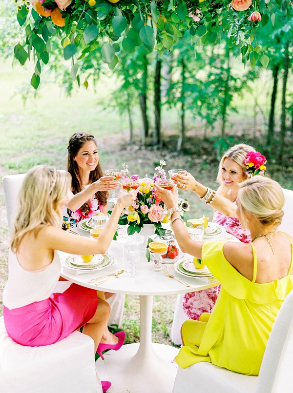 Bridal Brunch Toast | Colorful Summer Bridal Brunch Editorial by Dyan Kethley Photography