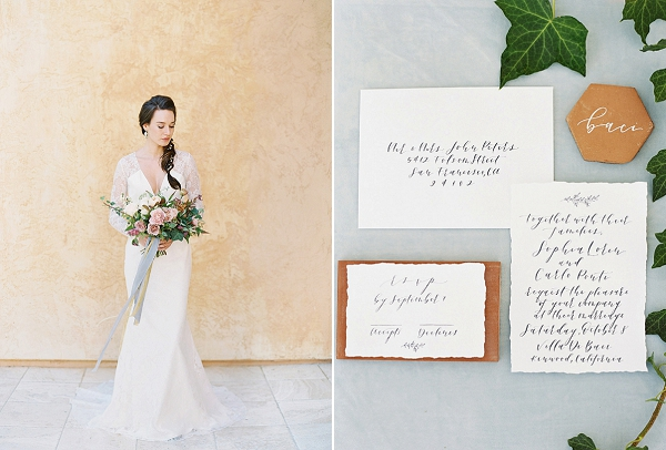 Calligraphy Stationery   Villa Di Baci Editorial from Lynette Boyle Photography