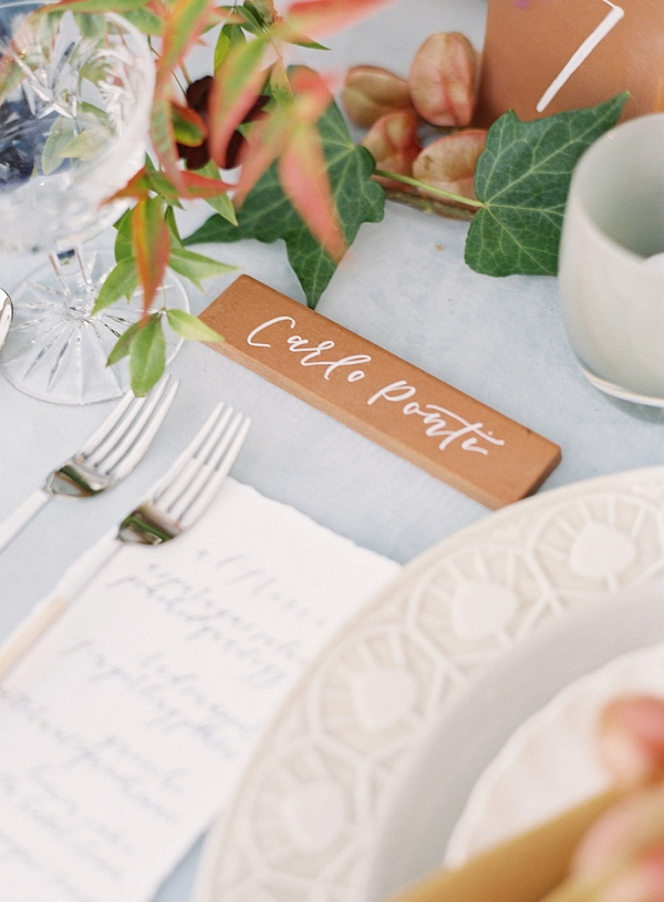 Place Card Tile   Villa Di Baci Editorial from Lynette Boyle Photography