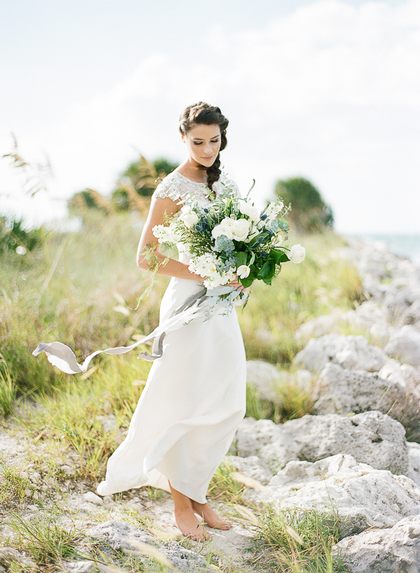 Barefoot Beach Bride | Romantic Beach Wedding Inspiration by The Ganeys