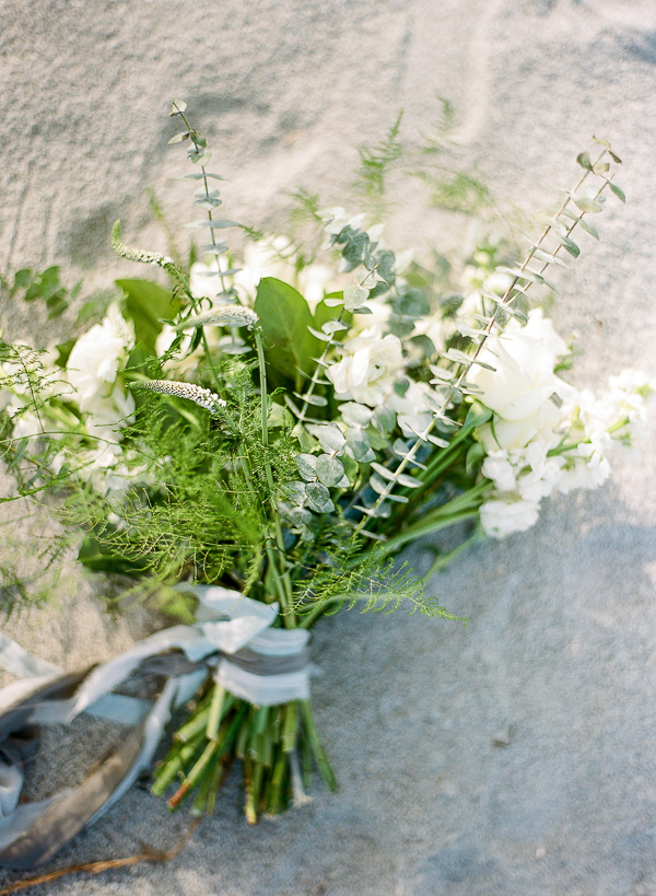 Organic Bouquet | Romantic Beach Wedding Inspiration by The Ganeys