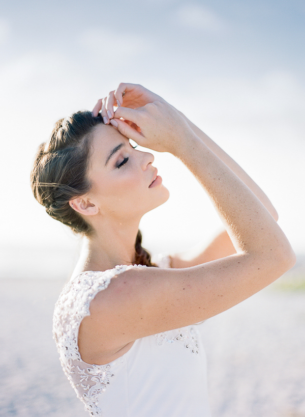 Fine Art Bridal Portrait | Romantic Beach Wedding Inspiration by The Ganeys