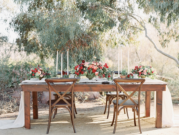 Romantic Tablescape   Elegant Tuscan Inspired Elopement by Gaby J Photography
