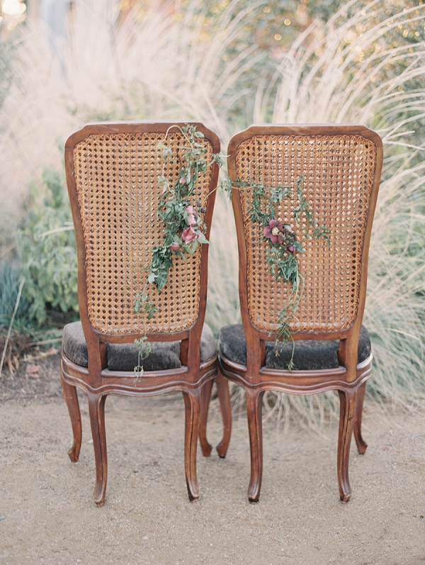 Bride and Groom Vintage Seating | Elegant Tuscan Inspired Elopement by Gaby J Photography