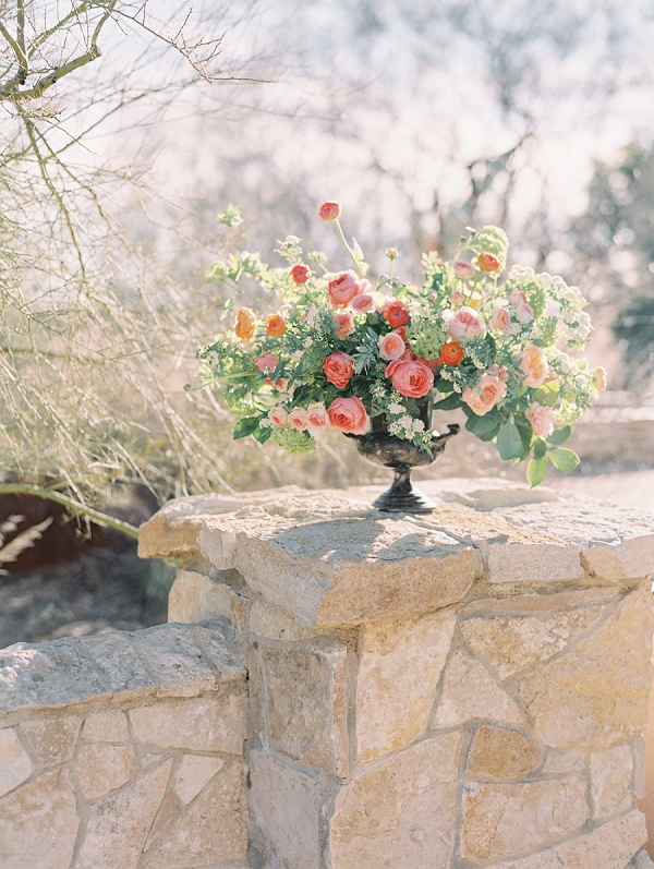 Floral Centerpiece   Elegant Tuscan Inspired Elopement by Gaby J Photography
