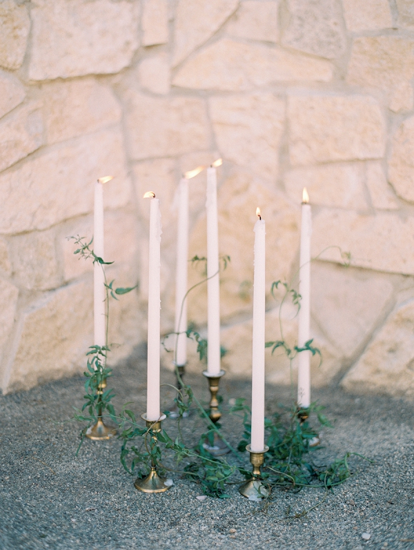 Candles and Greenery   Elegant Tuscan Inspired Elopement by Gaby J Photography