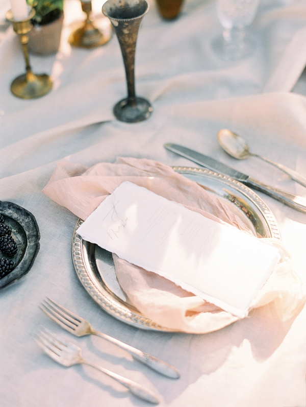 Place Setting | Elegant Tuscan Inspired Elopement by Gaby J Photography