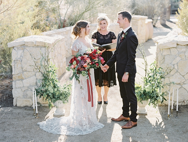 Beautiful Organic Ceremony Backdrop   Elegant Tuscan Inspired Elopement by Gaby J Photography