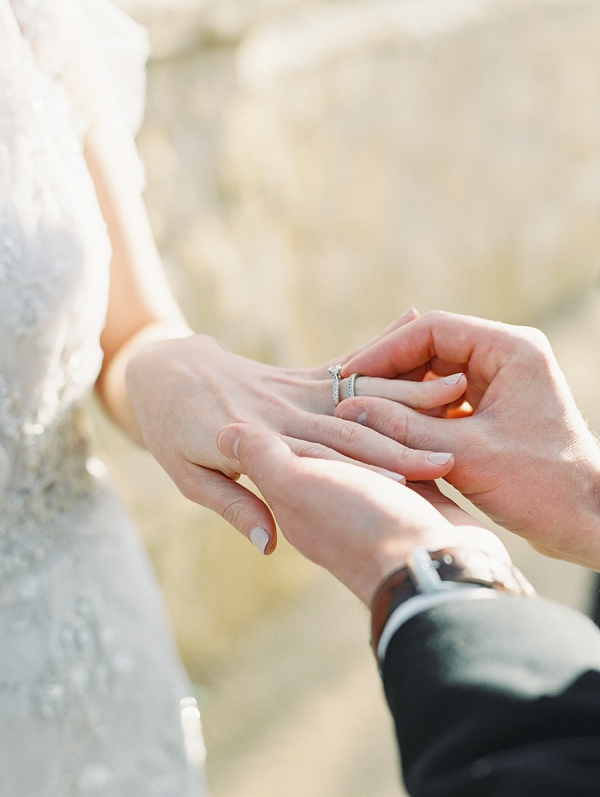 Exchanging Rings   Elegant Tuscan Inspired Elopement by Gaby J Photography