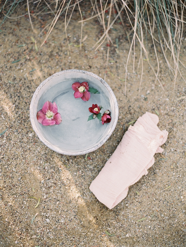 Foot Washing Tradition at a Wedding   Elegant Tuscan Inspired Elopement by Gaby J Photography
