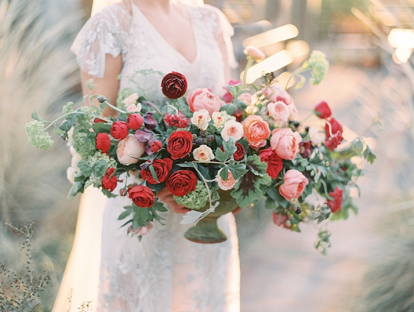 Ombre Floral Centerpiece   Elegant Tuscan Inspired Elopement by Gaby J Photography