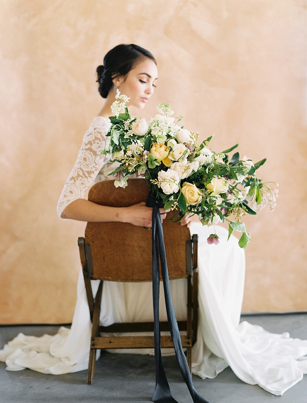 Elegant Bride with Lush Bouquet | Rustic and Organic Wedding Inspiration from Keestone Events and Ben Q Photography