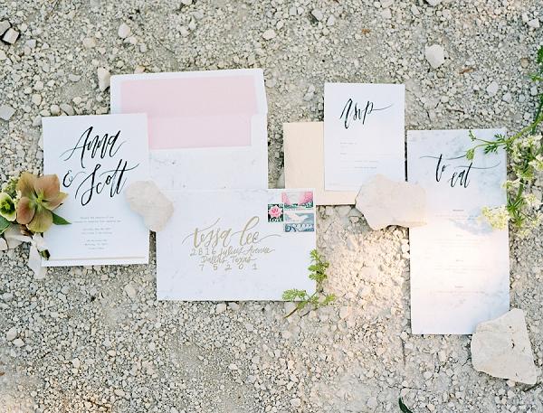 Calligraphy Wedding Invitations | Rustic and Organic Wedding Inspiration from Keestone Events and Ben Q Photography
