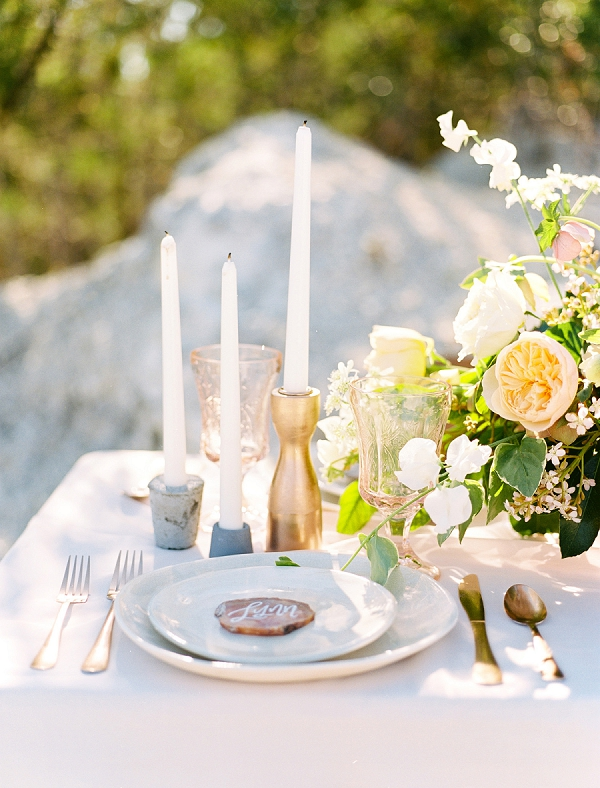 Copper and Stone Accents | Rustic and Organic Wedding Inspiration from Keestone Events and Ben Q Photography