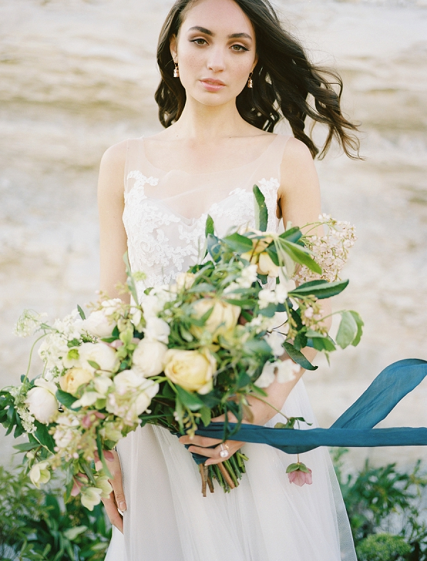 Ribbon Tied Bouquet | Rustic and Organic Wedding Inspiration from Keestone Events and Ben Q Photography