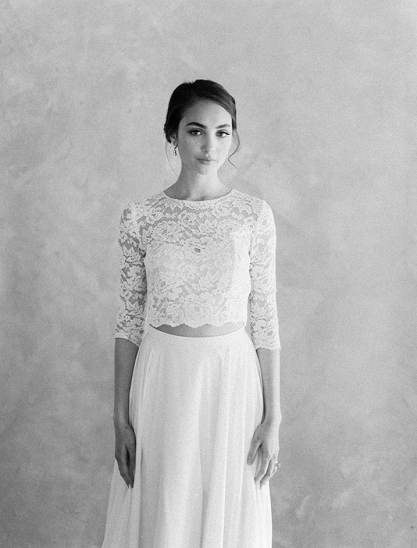 Bridal Lace Crop Top | Rustic and Organic Wedding Inspiration from Keestone Events and Ben Q Photography